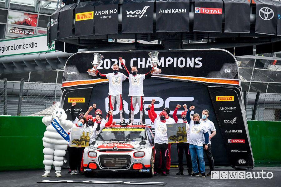 Mads Ostberg Campione del Mondo WRC 2 con la Citroen al Rally di Monza 2020