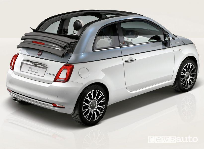 Vista posteriore Fiat 500 Dolcevita