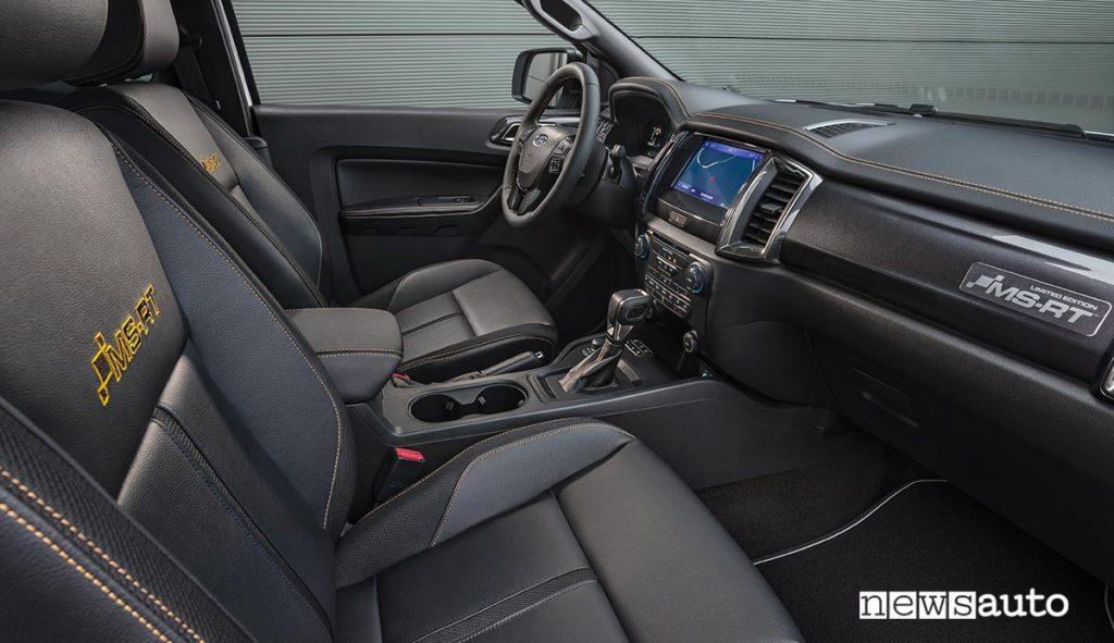 Ford Ranger MS-RT interni abitacolo sedili e volante