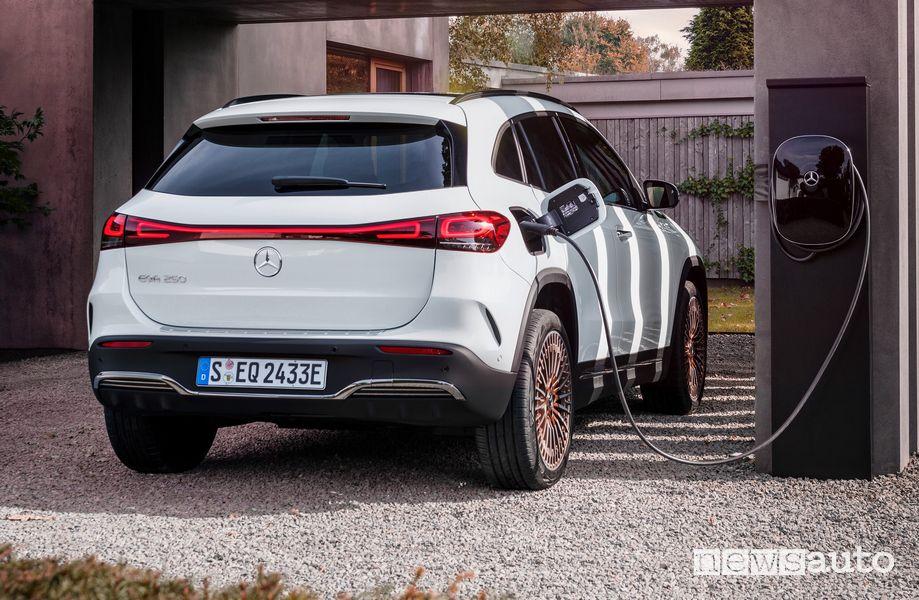 Mercedes-Benz EQA Edition 1 ricarica domestica da una wallbox