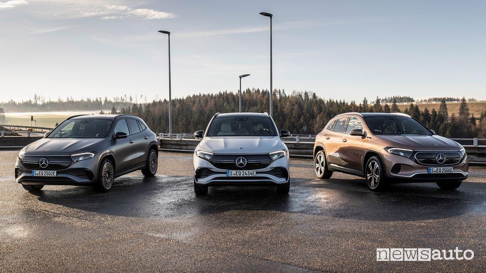 Gamma nuovo Mercedes-Benz EQA SUV compatto elettrico