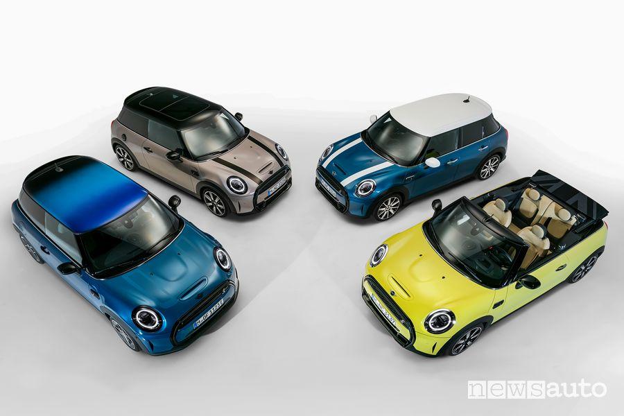Nuova gamma Mini 3 porte, 5 porte e Cabrio