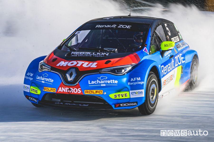 Renault Zoe Glace sul ghiaccio nell'e-Trofeo Andros