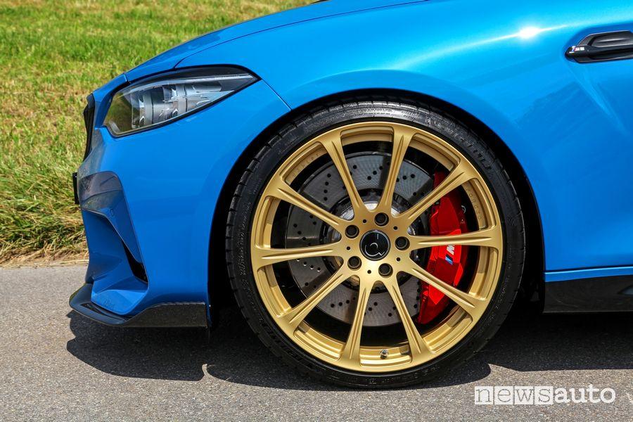Cerchi in lega da 202 finitura oro dÄHLer BMW M2 CS DCL