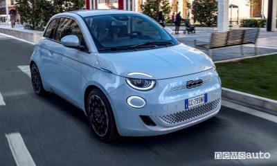 Fiat 500 auto elettrica più venduta in Italia