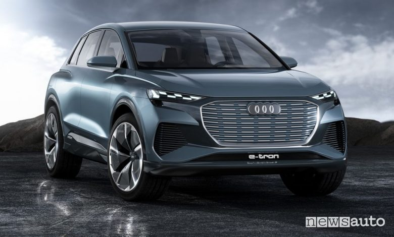 Audi Q4 e-tron concept SUV compatto elettrico