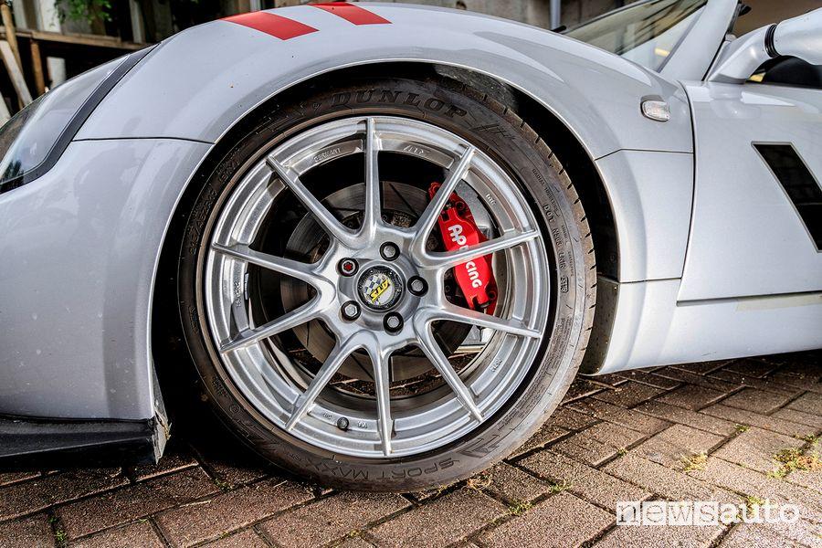 Cerchi in lega impianto frenante Opel Speedster