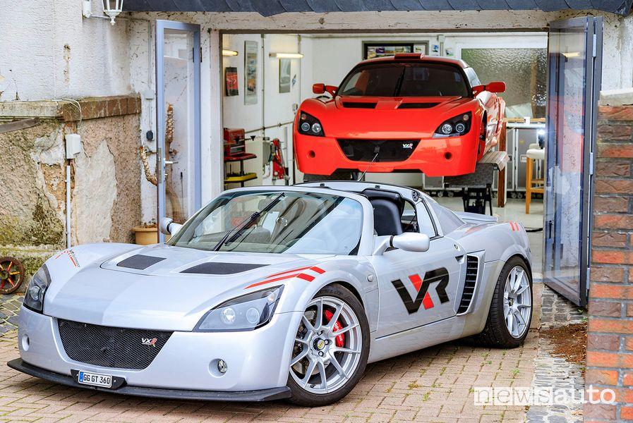 Opel Speedster nel garage di Kurt Hesse