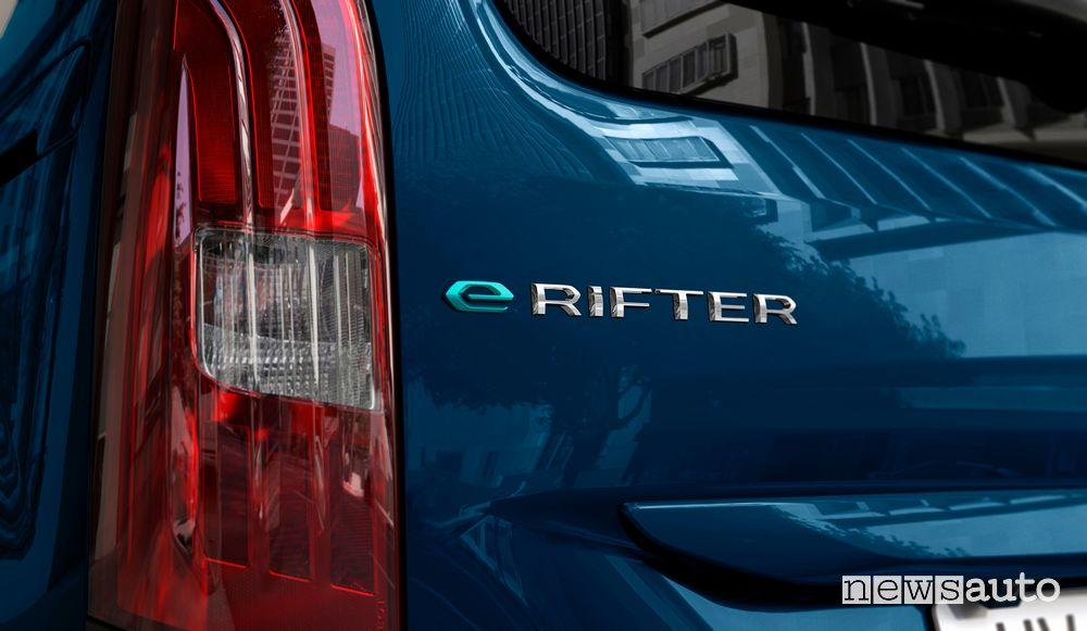 Badge portellone posteriore Peugeot e-Rifter elettrico