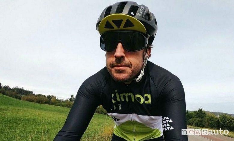 Fernando Alonso, incidente in bici, è in ospedale con fratture