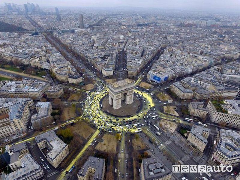 rotatoria dell'Arco di Trionfo di Parigi