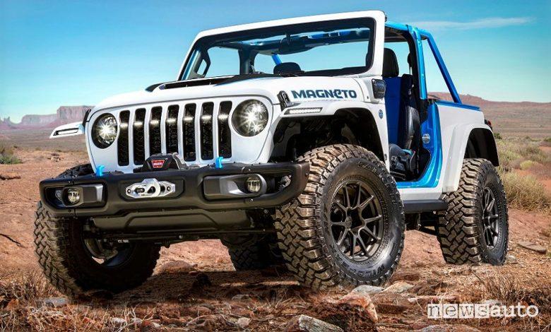 Vista di profilo Jeep Magneto BEV concept elettrico