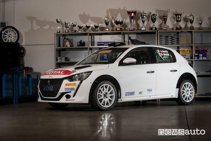 Vista di profilo Peugeot 208 Rally 4 di Andrea Nucita