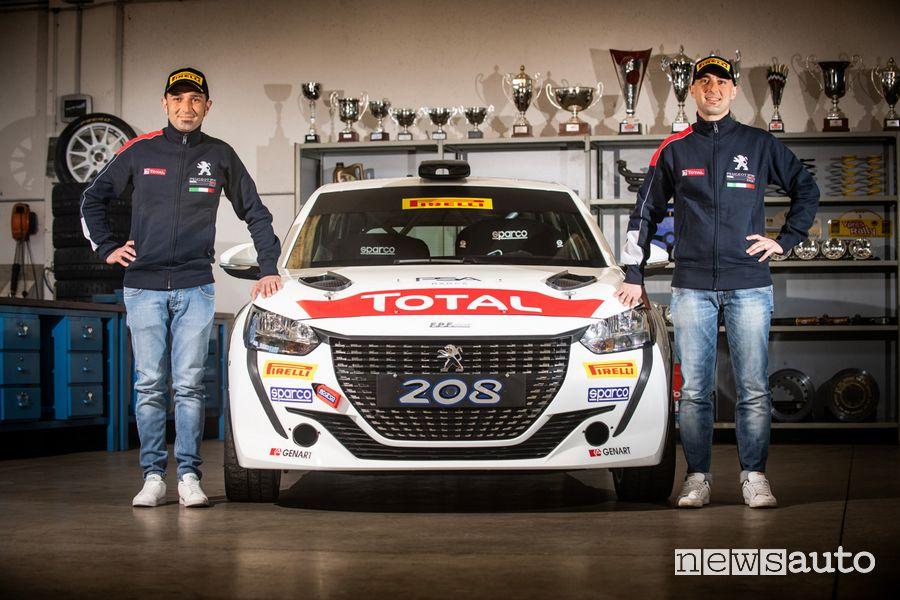 Andrea e Giuseppe Nucita equipaggio ufficiale Peugeot nel CIR 2021