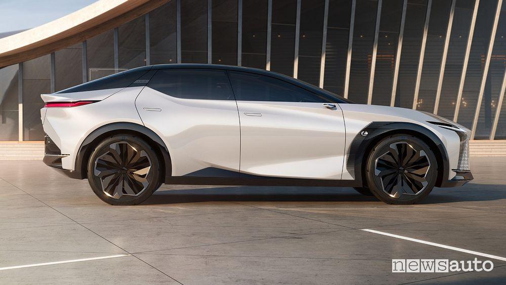 Vista laterale Lexus concept LF-Z Electrified