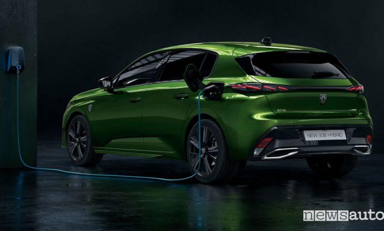 Nuova Peugeot 308 elettrica