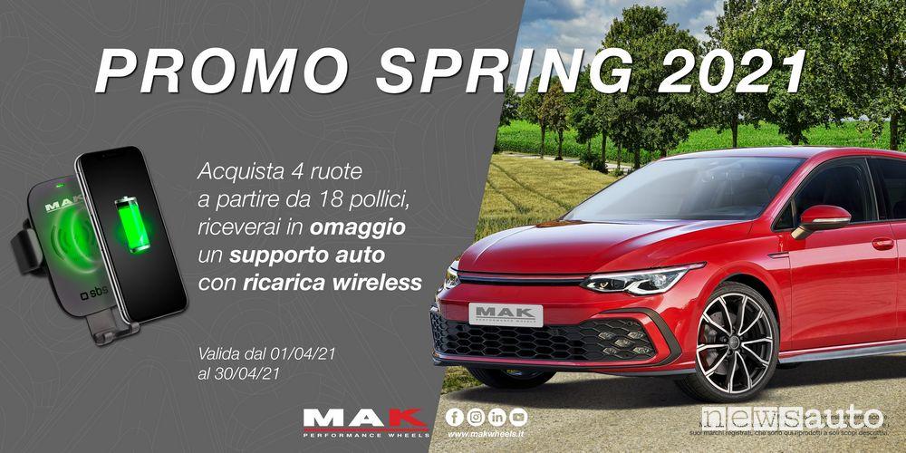 Locandina promozione cerchi Mak, operazione Spring 2021
