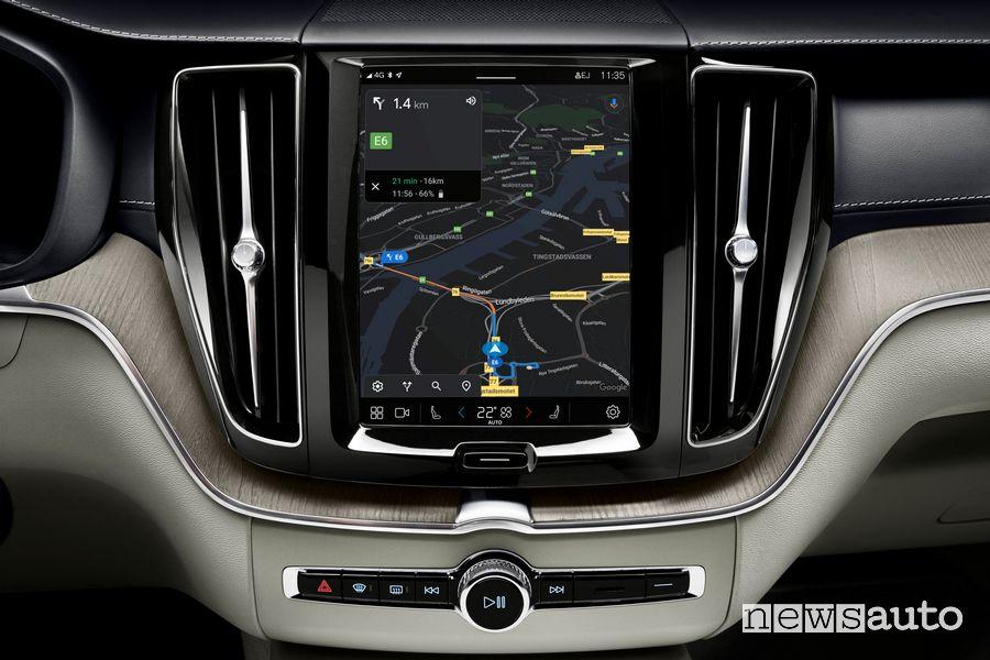 Infotainment navigatore Google Maps Volvo XC60 2022