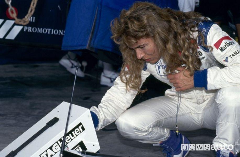 Pilota donna Giovanna Amati al Gp del Brasile ad Interlagos nel 1992