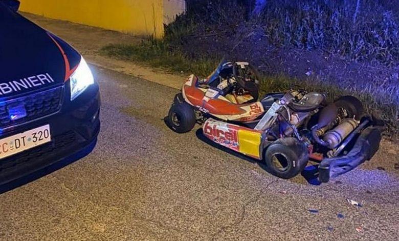 Bravata su strada, Polizia insegue Go-Kart nella notte