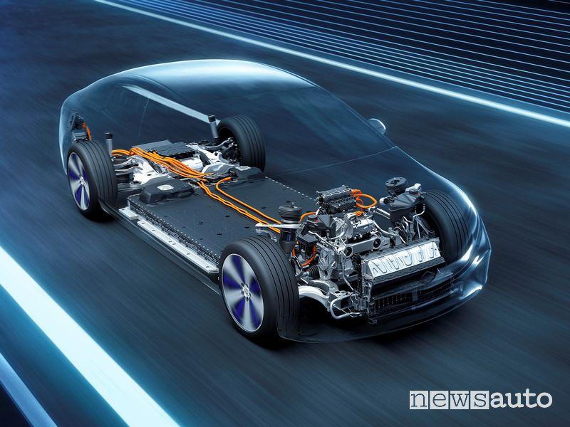 Mercedes-Benz EQS, ricarica con pagamento automatico