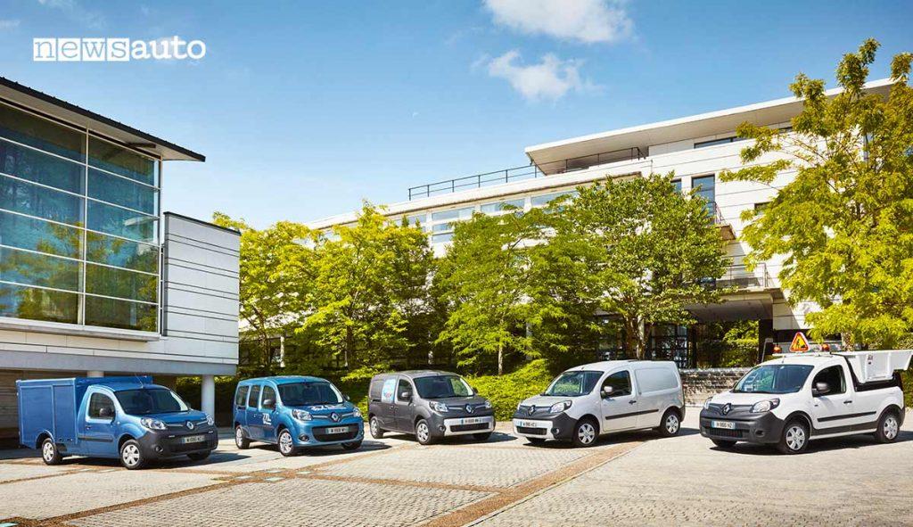 Allestimenti Renault Kangoo ZE furgone elettrico