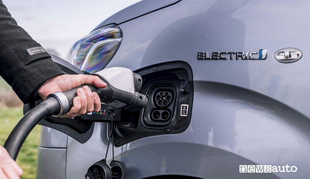 Presa di ricarica del Toyota Proace elettrico
