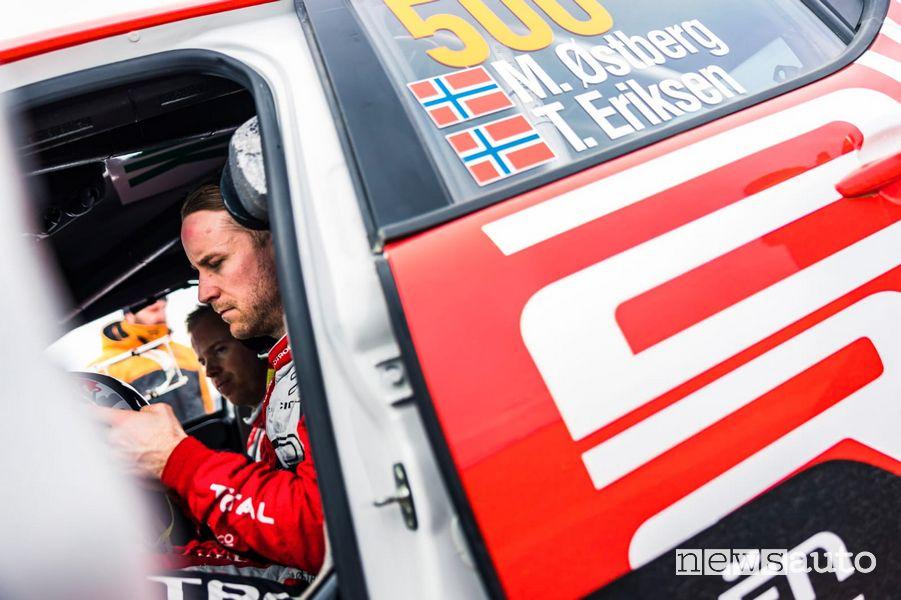 Mads Ostberg a bordo della Citroën C3 Rally2