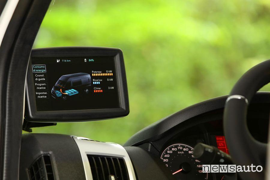Monitor stato di carica batteria abitacolo Fiat e-Ducato elettrico