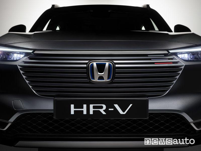 Frontale, griglia anteriore nuovo Honda HR-V e:HEV