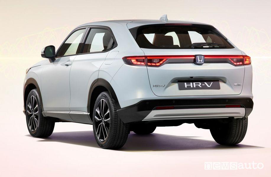 Vista posteriore nuovo Honda HR-V e:HEV