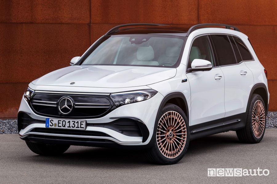 Vista di profilo Mercedes-EQ EQB elettrico
