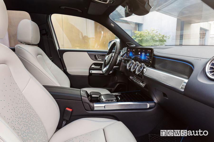 Sedili anteriori abitacolo Mercedes-EQ EQB elettrico