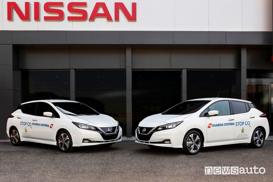 Nissan Leaf alla Guardia Costiera