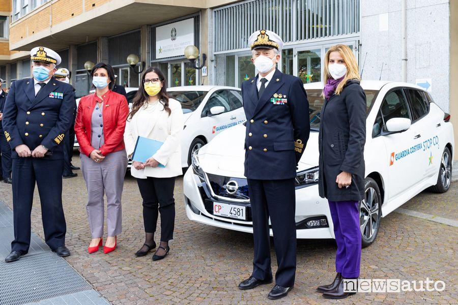 L'auto elettrica della Guardia Costiera è la Nissan Leaf
