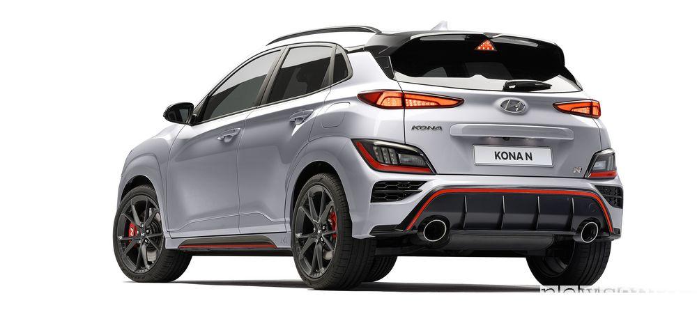Vista posteriore nuova Hyundai Kona N