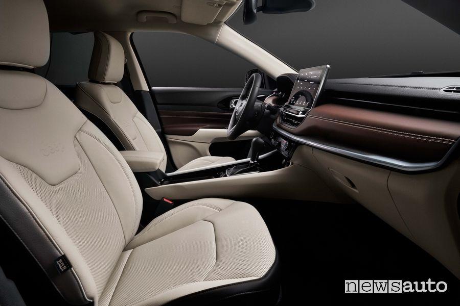 Sedili anteriori abitacolo nuova Jeep Compass Limited 2021 2022