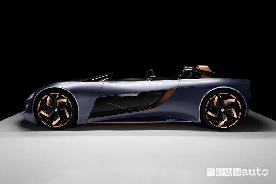 Vista laterale concept Suzuki Misano
