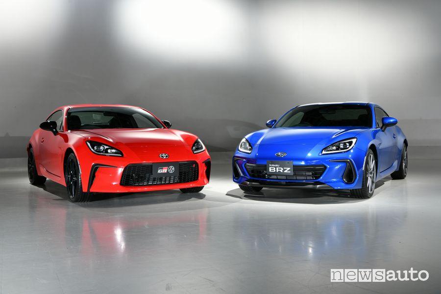 Nuova Toyota GR86 e Subaru BRZ
