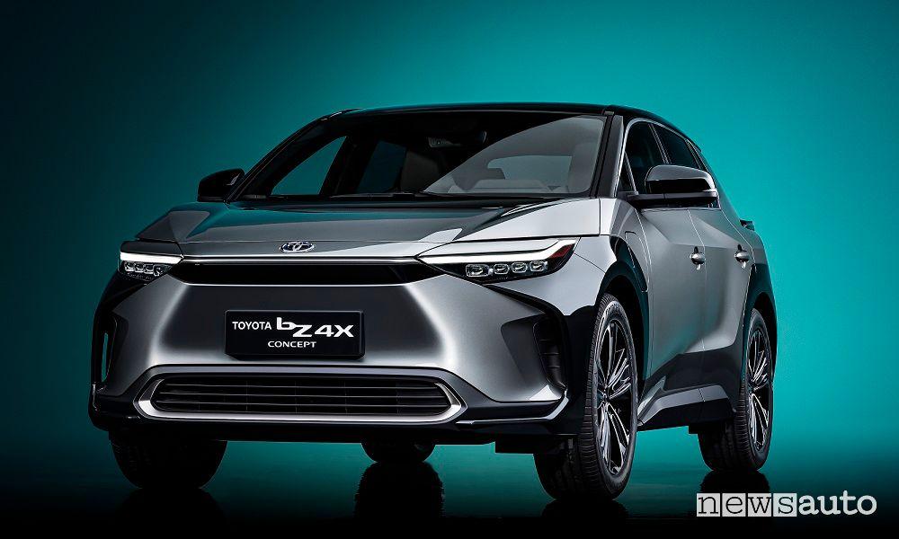 Vista anteriore Toyota bZ4X Concept
