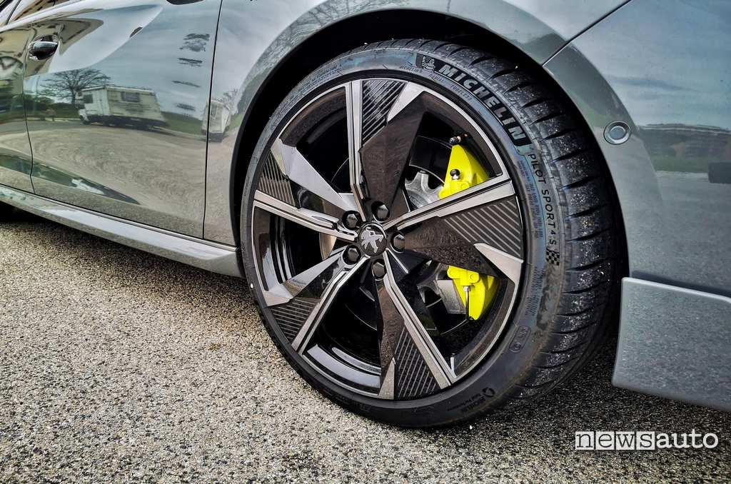 cerchi 20 pollici pneumatici Michelin Pilot Sport 4S Peugeot-508 PSE 2021