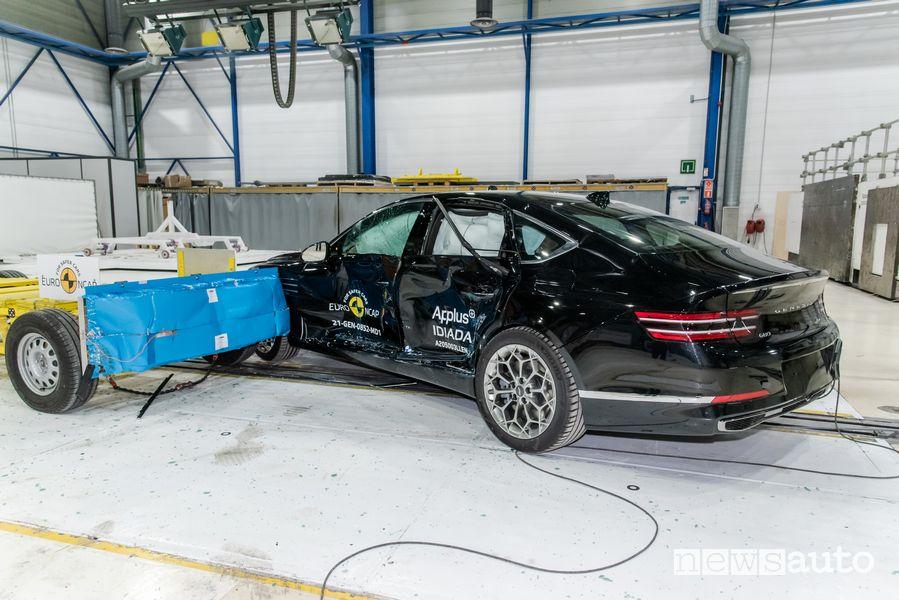 Punteggio massimo 5 stelle nei test Euro NCAP per la berlina Genesis G80