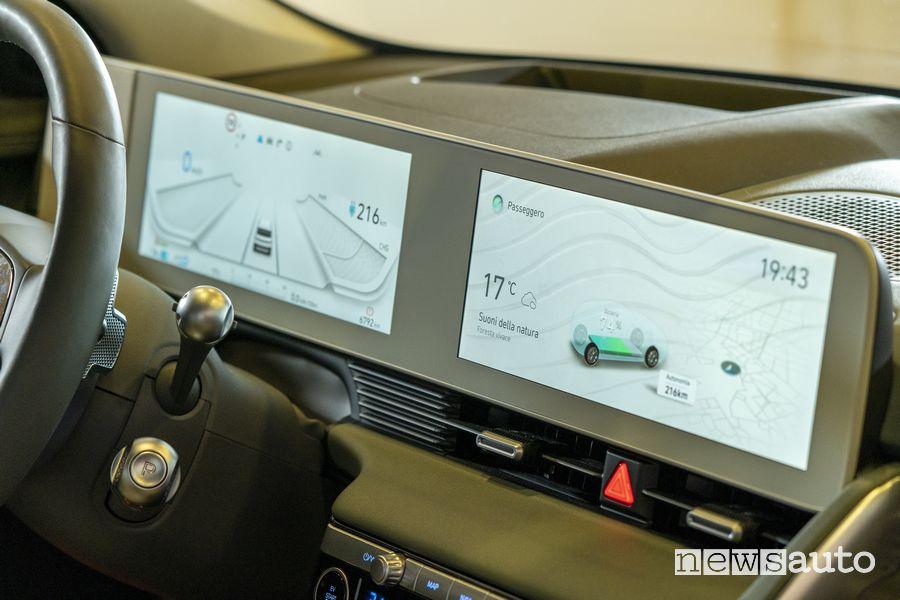 Doppio display abitacolo nuova Hyundai Ioniq 5