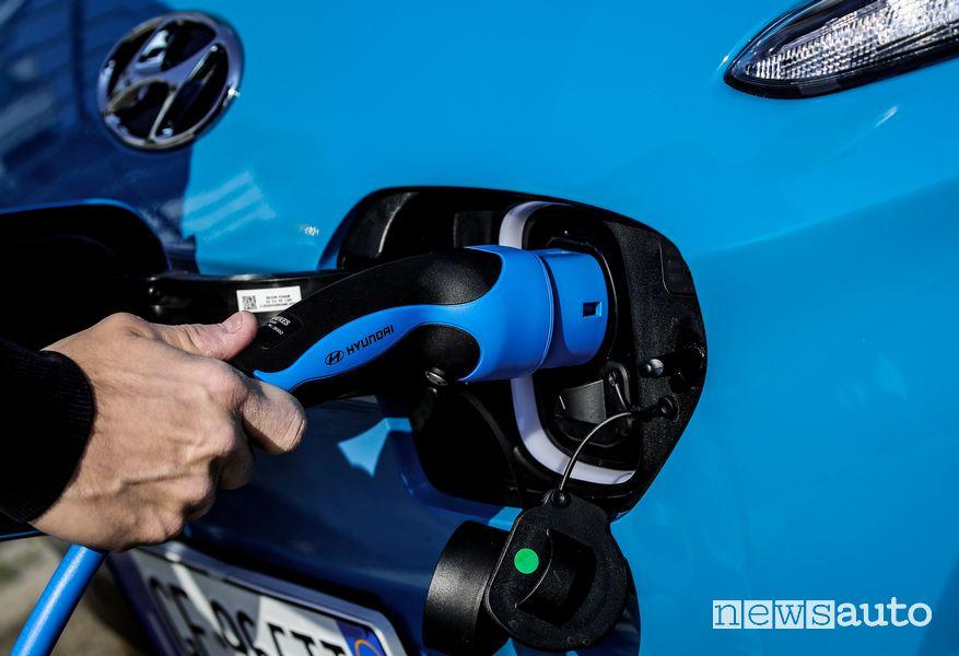 Presa di ricarica in corrente alternata AC Hyundai Kona Electric