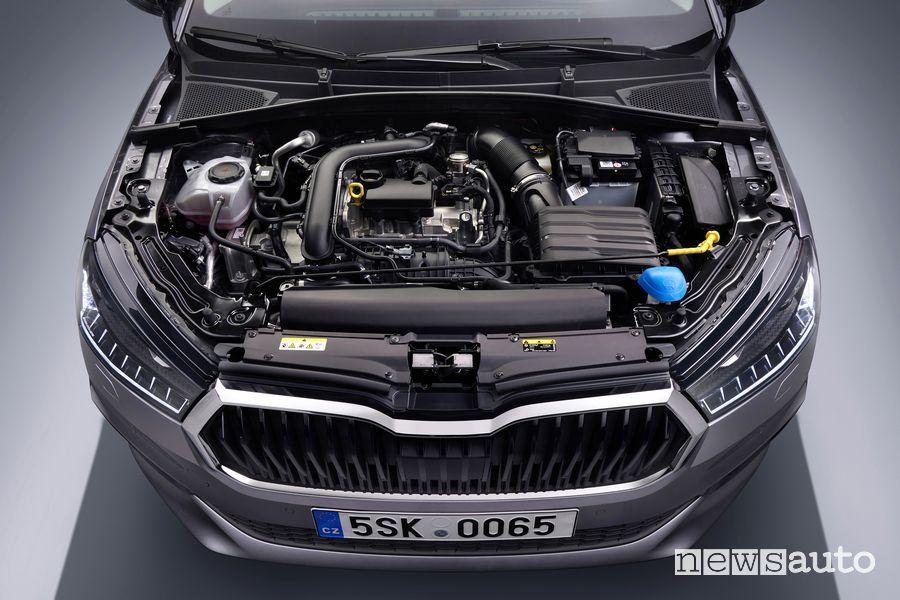 Vano motore nuova Škoda Fabia