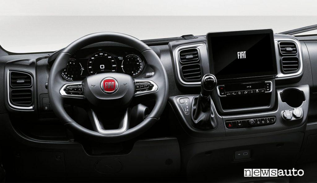 Abitacolo e cruscotto del nuovo Fiat Ducato