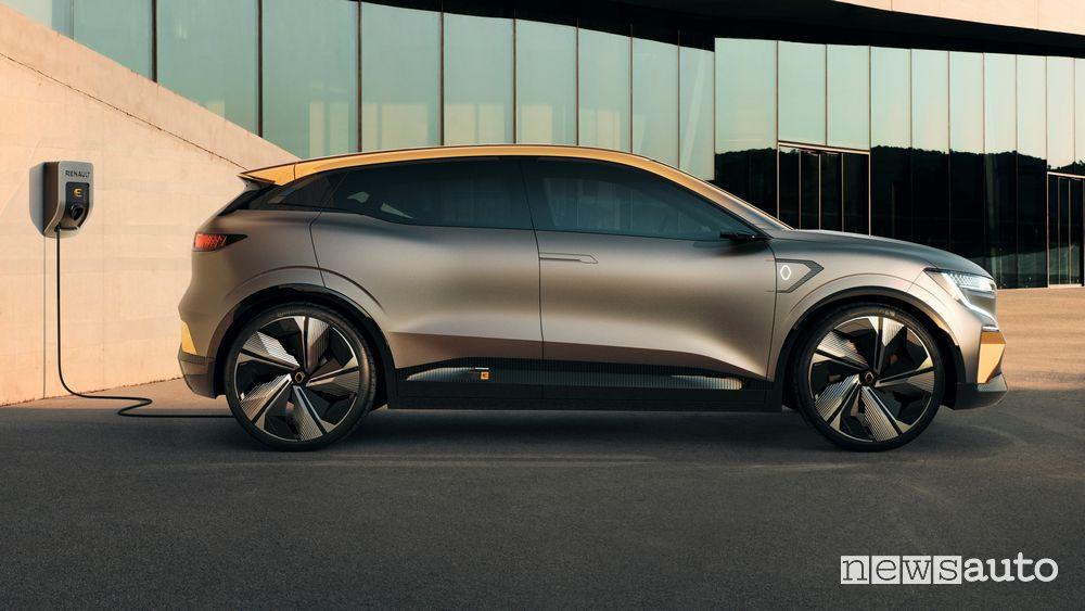 Nuova Renault Megan-e elettrica, motore, batteri a e autonomia