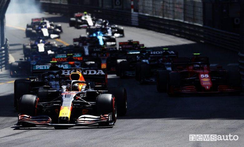 F1 Gp Monaco, gara vinta dalla Red Bull di Verstappen [foto classifiche]