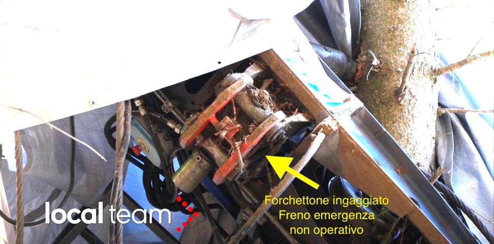 Freno d'emergenza della funivia non operativo a causa della forchetta che ne blocca il funzionamento, la causa dell'incidente tragedia di Stresa