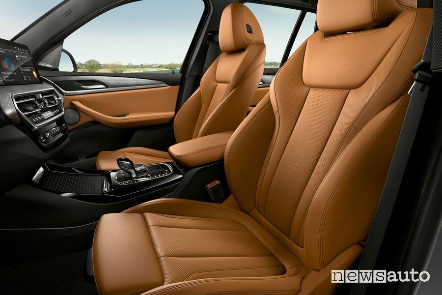 Sedili anteriore abitacolo BMW X3 xDrive30e